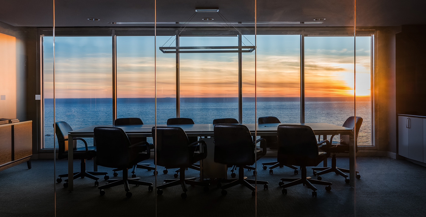 Conference room at sundown