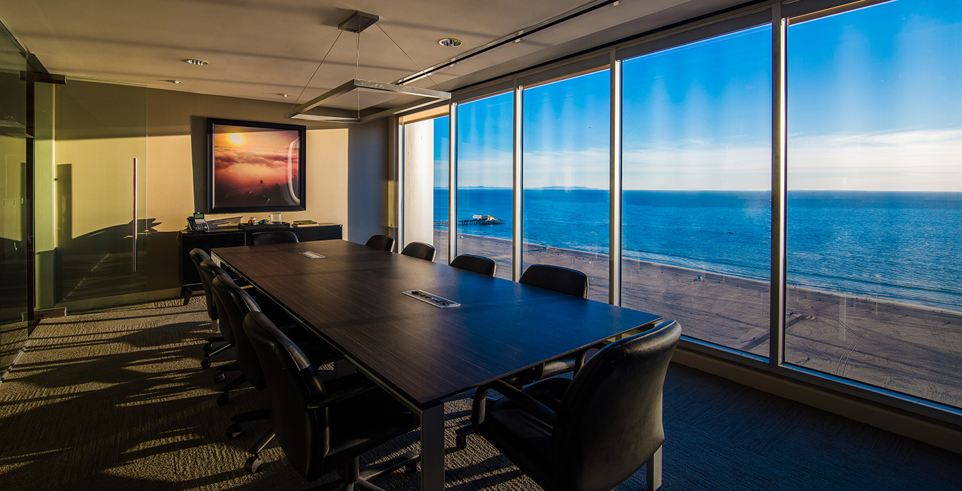 Conference room and ocean